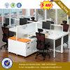 Estação de trabalho de madeira da divisória do escritório dos assentos da mesa de escritório 4