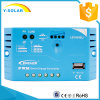 painel solar do USB 5V/1.2A de 10A 12V/24V/controlador Ls1024EU da potência