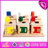 Una casella educativa migliore Montessori di legno dei 2017 blocchetti dei nuovi bambini di disegno gioca W12f002