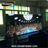 Pantalla de visualización de alquiler de LED del funcionamiento a todo color de interior de la etapa