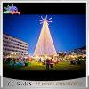 Arbre de Noël blanc chaud décoratif de tour de l'horizontal neuf Animated DEL
