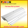 Aluminio Flatbase rollo de bandera soporte de exhibición