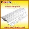 Stand Displayの上のアルミニウムFlatbase Banner Roll