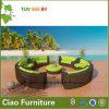 余暇の藤の庭の家具の現代テラスの円形の柳細工のソファー(CF1534)