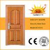 Porte travaillée d'acier inoxydable de garantie de Suncity pour l'entrée (SC-S121)