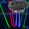 RGB 레이저 광선 자전 이동하는 헤드 DJ 빛