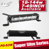 Super Slim Spot Single 7inch 18W Row Offroad LED Light Bar 7inch Car LED Light Bar