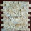 Het lichtgroene Ovale Mozaïek van de Muur van de Staaf van het Onyx van de Jade