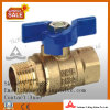 Las válvulas de bola de latón forjado industrial (YD-1056)