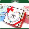 Коробка цветастого подарка картона высокого качества изготовления упаковывая