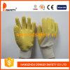 Перчатка вкладыша Джерси с желтой перчаткой Dcl401 латекса