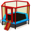 Createfun Cheap Adult Indoor Fitness Trampoline avec Handle