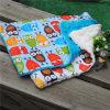 Algodón y almohadilla material del recorrido del bebé de Minky para recién nacido