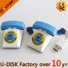 Movimentação feita sob encomenda do flash do USB do telefone do PVC da manufatura (YT-TL)