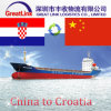 Agente de frete do oceano de FCL/LCL de China a Croatia