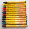 12color de niet-toxische Kleurpotloden van de Was van de Fabriek
