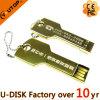 Palillo caliente del USB del clave del oro de la insignia del laser de la aduana (YT-3213-Gold)