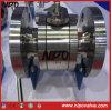 Estremità della flangia che fa galleggiare la valvola a sfera dell'acciaio inossidabile