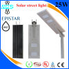 30W solar Integrated à luz de rua todo do diodo emissor de luz da luz de rua 150W em uma
