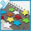 Aimant coloré de réfrigérateur de forme d'étoile de cadeau de promotion d'impression
