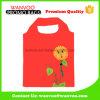 中国の工場赤く再使用可能なポリエステル折る記憶のショッピング・バッグ