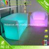 Sofà moderno del salone del sofà del sofà sezionale di plastica del LED