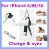 Kabel van de Gegevens van Sync van de Lader van de Ketting van de bliksem USB de Zeer belangrijke voor iPhone 6 de Kabel van Keychain van de Melkweg van Samsung van de Lucht van /5 iPad S6
