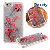 caja dura del melocotón de la cubierta del iPhone 6 del flor de la arena movediza roja de la impresión
