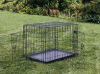 2 des Tür-Schwarz-24  Tellersegment Haustier-faltendes Koffer-Hundekatze-Rahmen-Rahmen-Hundehütte-der Feder-W/ABS