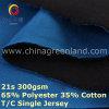 通気性のワイシャツ(GLLML404)のためのポリエステル綿によって編まれるジャージー65/35のファブリック