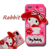 動物の弓メロディーのウサギの点によってはMotorola G4様式Huawei P8 P9のためのシリコーンの携帯電話の箱が開花する