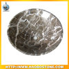 Brown Marble Round Basin Sink para Bathroom