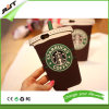 iPhone 5sのためのスリップ防止Starbucksのコーヒーカップのシリコーンの電話箱