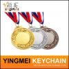 金属はカスタマイズされた3Dロゴの彫版が付いているメダルを遊ばす