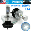 160W 16000lm High Low Beam H4 LED Headlight Bulb LED Work Light Bulbs Kits Philips Lamps