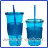 Saft-Becher, Trinkhalm-Plastikspielraum-Becher (R-SL021)