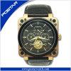Place et montre mécanique ronde d'acier inoxydable