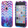 2in1 Galaxy combinado Anchor Pattern TPU Caso Hybrid Cover para iPhone5 5s/5c