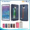 Caisse en cuir de luxe pour la note 4 de galaxie de Samsung, pour le cas de la note 4 de Samsung avec le logement pour carte, colorée pour la note 4 de galaxie de Samsung