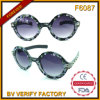 O plástico F6087 redondo molda senhoras Estilo Lunettes De Soleil
