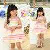 Vestido listrado colorido da menina do estilo novo do verão, desgaste do bebê (9270V)