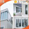 Barra horizontal en la ventana de aluminio de cristal de madera de roble, ventana sólida blanca de aluminio del marco del roble de Clading