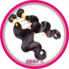 100% não processados ​​Human Indian Hair Weave, Invisible Part Wig