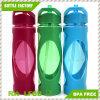 Heißer Verkaufs-Plastikwasser-Flasche mit Silikon-Kasten