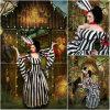 Klant van r-281 19 Kleding van Halloween van de Kleding van de Renaissance van de Oorlog Lolita/Civil van Maria Antoinette Gown 1860s van de Streep van het Kostuum van de Eeuw de Uitstekende Victoriaanse aan Orde