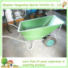 Pb-Free e Stable UV Powder Coating Wheelbarrow para o jardim ou o Construction (WB1006P)