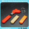 Palillo anaranjado del USB del plástico 4GB del eslabón giratorio del nuevo diseño (ZYF1293)