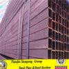 Conduttura d'acciaio saldata a basso tenore di carbonio del quadrato dell'acciaio per costruzioni edili