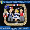 Medaglia del fumetto del metallo di vendita diretta della fabbrica con il contenitore su ordinazione di medaglia