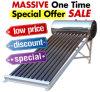 Unpressure/calentador de agua caliente solar del colector del sistema de energía solar del tubo de vacío del acero inoxidable de la presión inferior